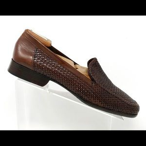 Cole Haan Bragano Leather Weave Loafers